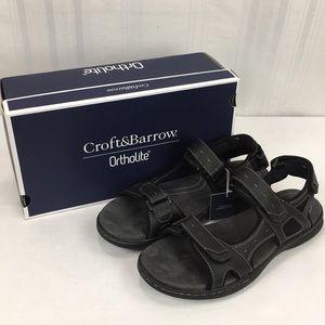 Croft & Barrow Ortholite Sandals Major SZ 12 Black